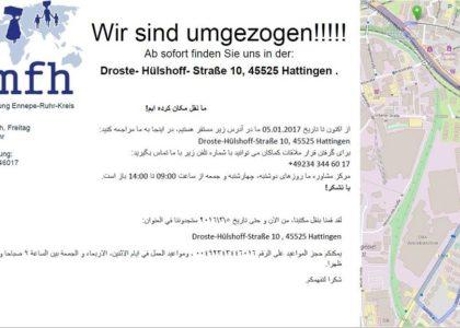 Flüchtlingsberatungsstelle Ennepe-Ruhr-Kreis ist umgezogen
